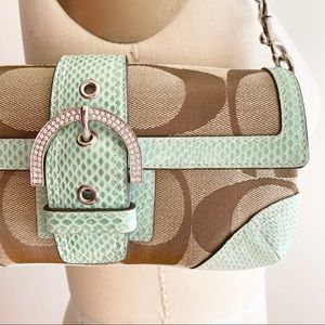 Coach - Snakeskin trimmed purse (Limited edition)